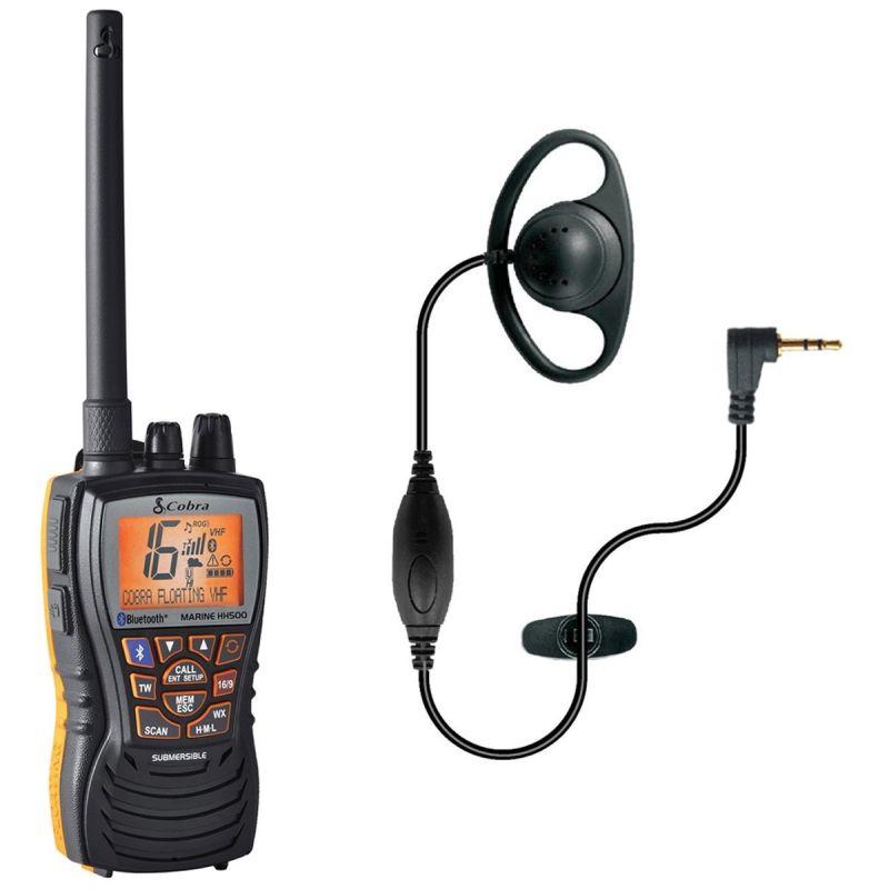 Cobra Marine Hh500 Portable Vhf Radio With Bluetooth 62x36x123mm Ebay
