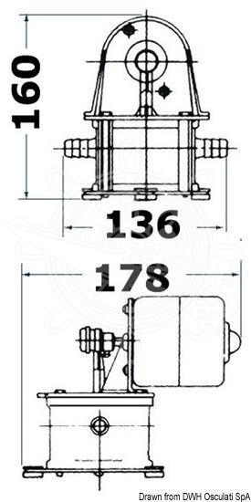 Osculati Geiser diaphragm self-priming bilge pump 12 V