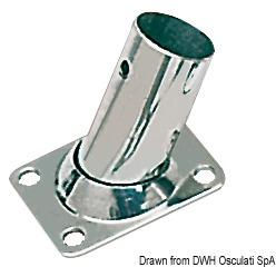 OSCULATI Grundplatte rechteckig AISI316 60 Grad 25 mm