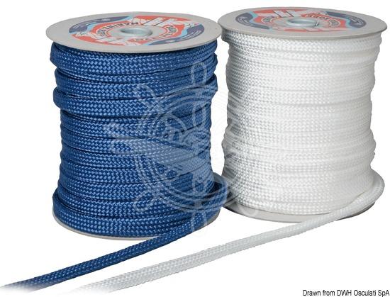 Osculati Geflecht zur Fenderbefestigung blau 18 mm x 50 m x50 Stk