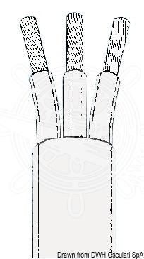 Osculati 2.5 Kupferkabel 3-polig hellgrau 2.5 Osculati mm x50 Stk 7c181c