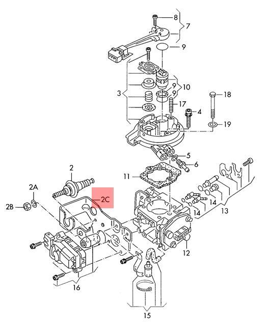 037145801B Genuine VW Bracket