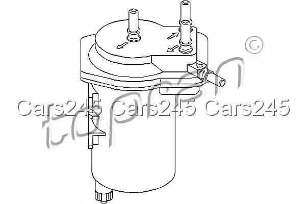 inline fuel filter fits renault scenic ii megane grandtour 1 5l 2002