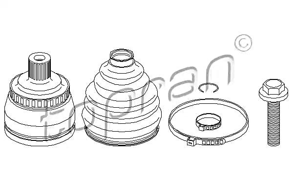 Speedway 910616005 1949-1954 Chevy Spindle Nut Kit