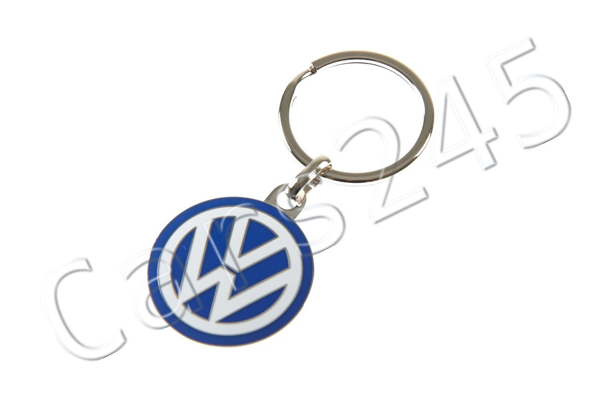Keyrings & Keyfobs Vw Keyring Blue And White Genuine Product Vehicle Parts & Accessories