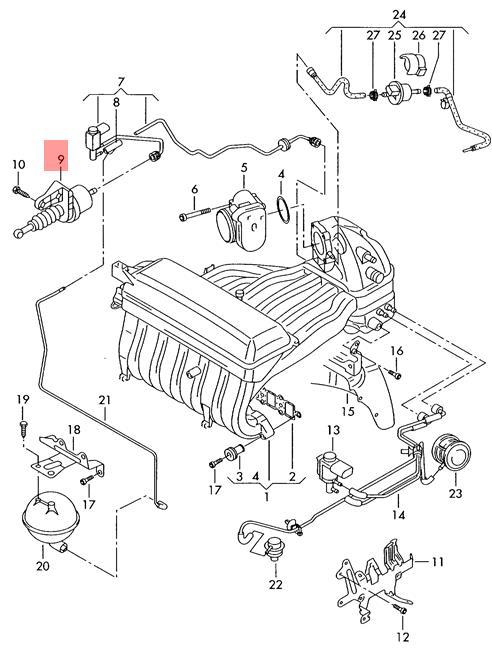 Genuine Vacuum Unit For Intake Manifold Changeover Vw Transporter