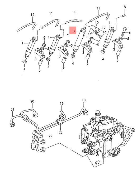 Genuine Vw Seat Skoda Complete Injection Pump Cylinder 3 028130203e