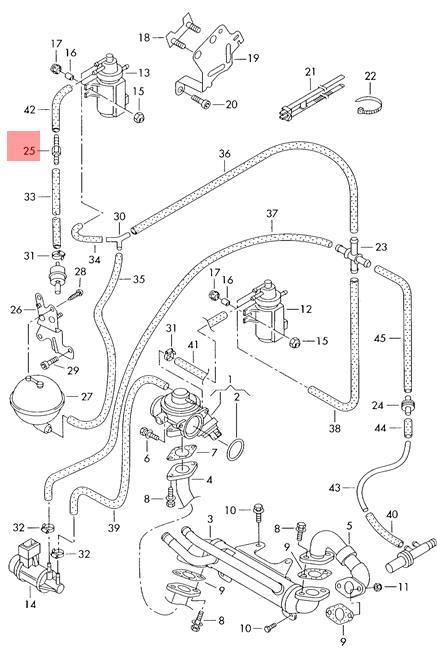 Genuine Connecting Piece Vw Audi Golf R32 Gti Rabbit Jetta Variant
