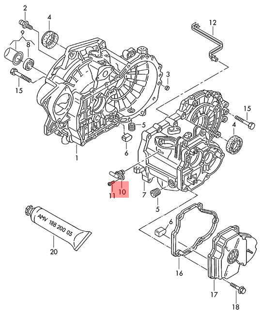 Details About Genuine Sensor For Gearbox Neutral Position Vw Audi Ameo Beetle 02t906207d: 2006 Chrysler Engine Diagram At Hrqsolutions.co