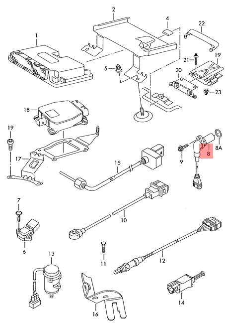 Genuine Crankshaft Position Sensor 030906433q