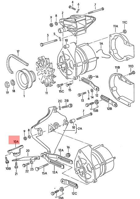 Genuine Audi Vw 100 Avant Quattro 200 4000 5000 Turbo 80 90 Support