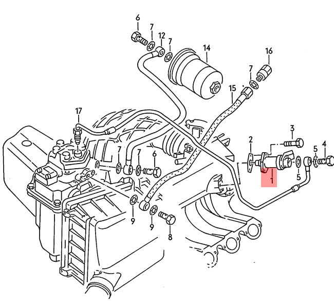 Genuine Volkswagen Warm-Up Valve NOS Audi 100 quattro 4000 5000 Turbo 034133403