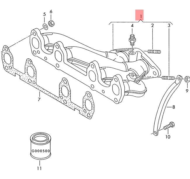 Genuine Volkswagen Exhaust Manifolds Nos 037253031be