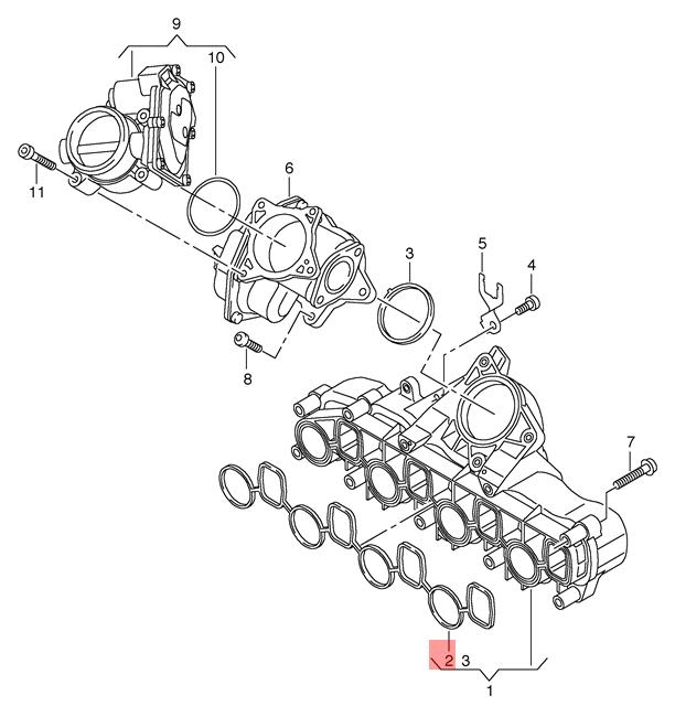 Details About Genuine Seal Vw Amarok Crafter 2ea 2eb 2ed 2ee 2eh 2ek 2ex 2fc 2ff 03l129717d: Vw Amarok Engine Diagram At Downselot.com