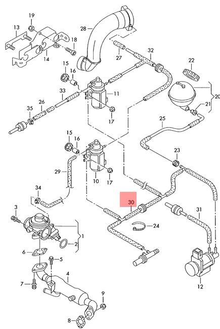 Genuine Vw Vacuum Hose Nos Vw Lupo 3l Tdi 045131055