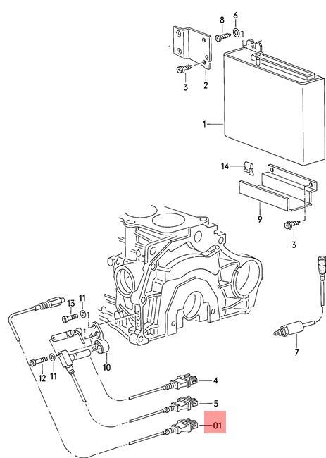 Genuine Knock Sensor Green Audi 100 Quattro 200 5000 Turbo 80 90