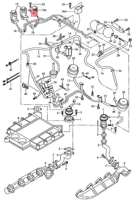 Genuine Set Of Vacuum Pipes Audi Audi A8 S8 Quattro 4d 057145739