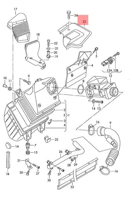 NEW Genuine Oem VW AUDI SKODA  Cover Part No 058133849C