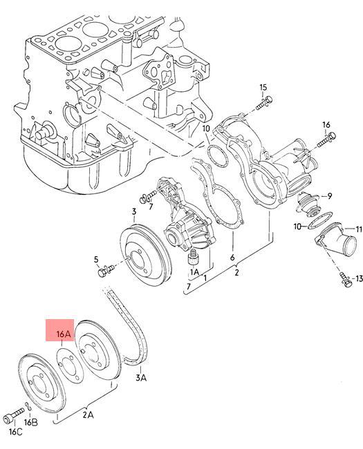 Original Distanzscheibe VW AUDI Diesel-Industrie-Motore EuroVan ...