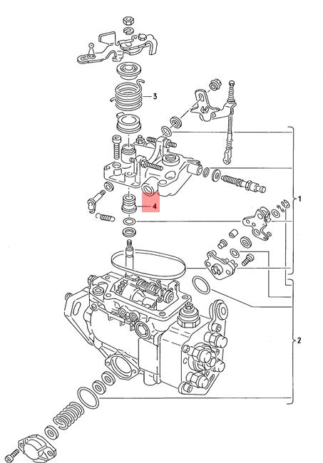 Genuine Bush Vw Audi Caddy Dasher Diesel Industrie Motore Eurovan