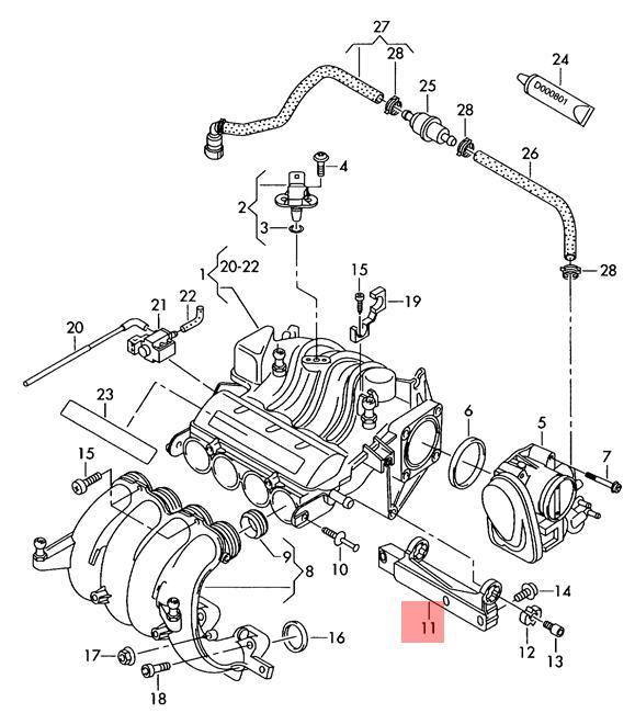 Genuine Support Vw Audi Beetle Cabrio Golf R32 Gti Rabbit 06a129723q