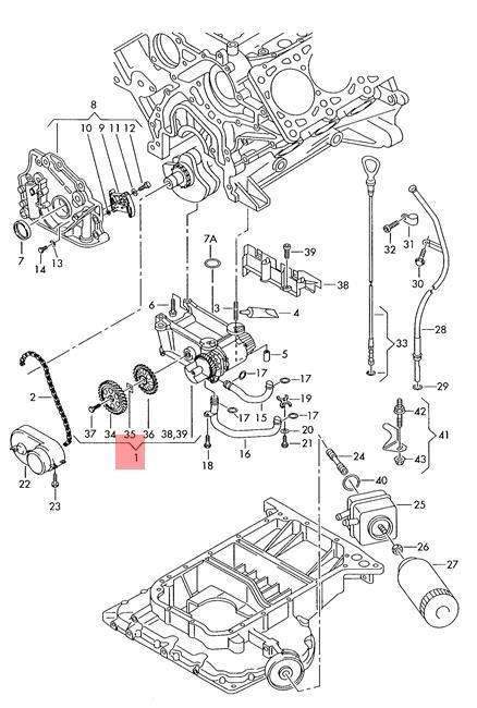 Genuine Balancer Shaft Module With Oil Pump Audi A4 Avant S4 06c103273h