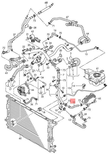 Coolant Hose Audi Vw Audi A4 Wagon S4 Cabrio Quattro A5 S5 Cabriolet