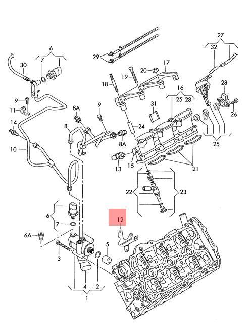 Genuine Bracket Audi A4 Avant S4 Quattro A5 S5 Cabriolet 06e127233ad