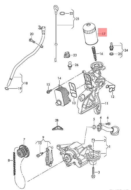 oil filter vw audi beetle convertible cc eos golf r32 gti