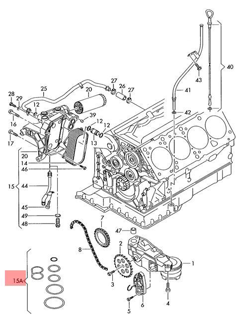 Genuine Gasket Set For Oil Filter Holder Audi Vw A6 Wagon 077198405