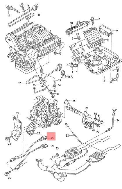 Genuine Crankshaft Pulse Sensor Audi A8 S8 Quattro 4d 077905381d