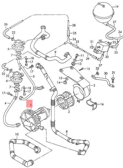 genuine vw secondary air pump nos vw clasico jetta eurovan golf 2004 Volkswagen Jetta details about genuine vw secondary air pump nos vw clasico jetta eurovan golf 078906601e
