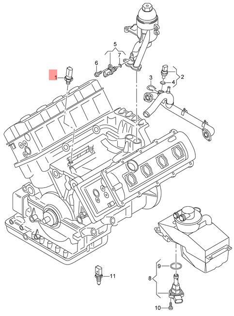 Genuine Oil Pressure Switch Audi Vw Audi A5 S5 Coupe Sportback
