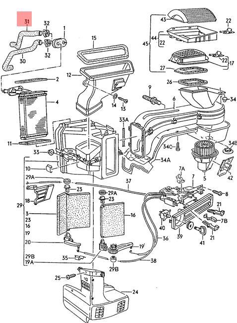 Genuine Volkswagen Coolant Hose Return Nos Jetta 16 19 1g 1g1 1g2