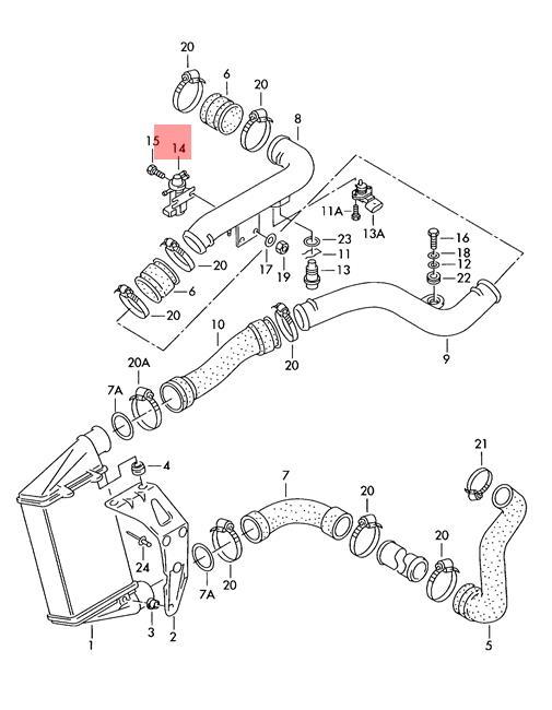 Genuine Pressure Converter Vw Audi Beetle Eurovan Golf Jetta Variant