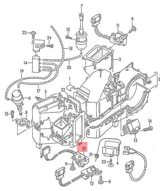 Genuine Vw Golf Control Motor For Temperature Regulating Flap Rhd
