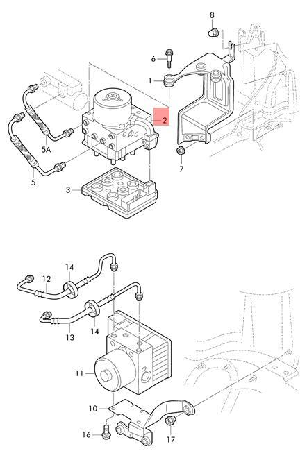 Genuine Volkswagen Hydraulics Control Unit Nos Beetle Golf 1j0698517