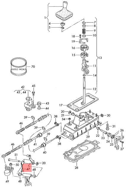 genuine relay lever skoda seat fabia roomster cordoba vario 1j0711203l