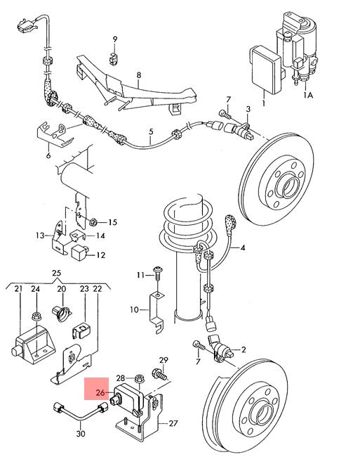Genuine Combi Sensor For Acceleration And Yaw Rate Lhd Vw Beetle