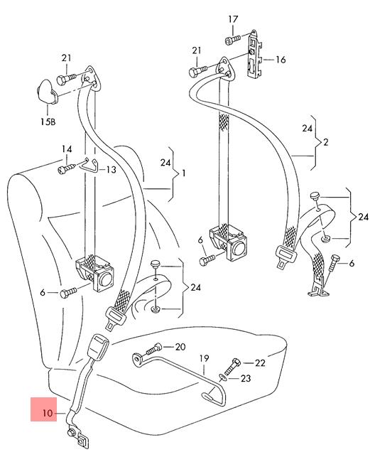 Genuine Vw Beetle Bettle New Belt Latch With Warning Contact