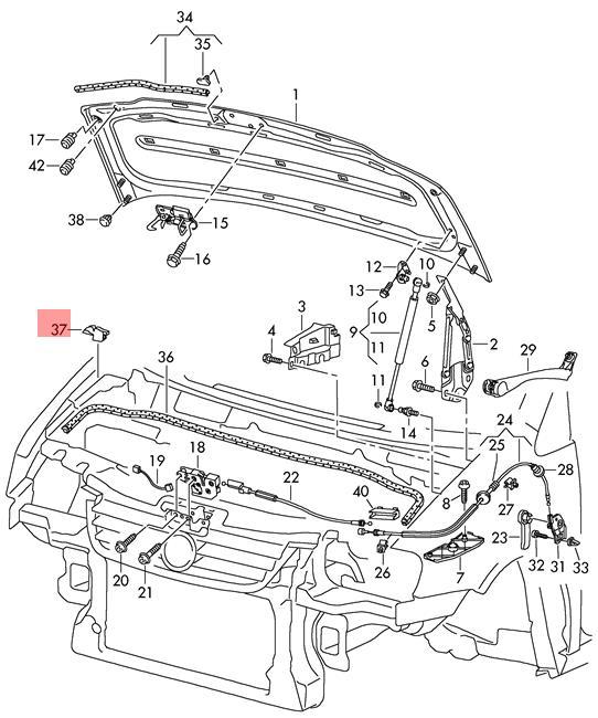 Genuine Filler Piece Right VW Caddy Touran 1T0823730C