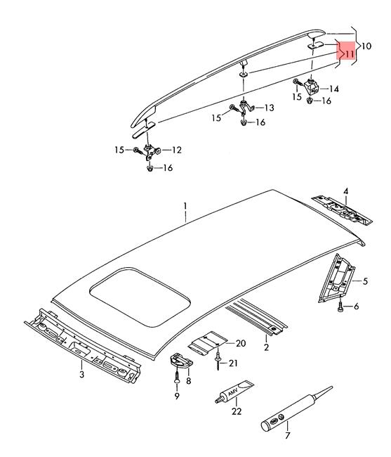 original dichtungssatz f r dachreling vw touran 1t0860151 ebay. Black Bedroom Furniture Sets. Home Design Ideas