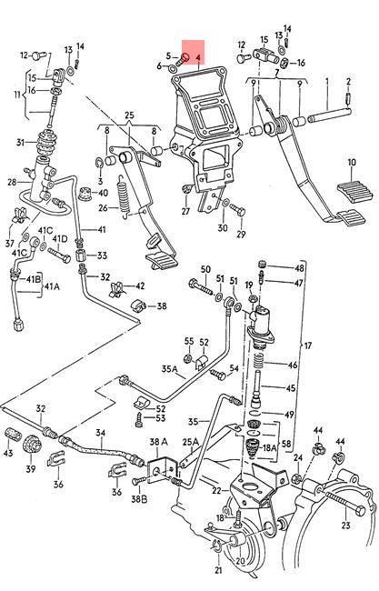 Genuine Volkswagen Bracket Nos Vanagon Syncro 24 25 251721111b