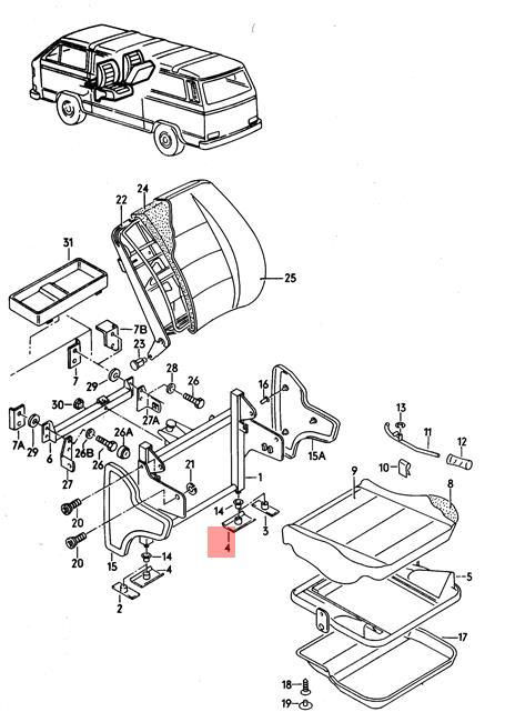 Genuine Volkswagen Holding Strap NOS Vanagon syncro 24 25 283885585