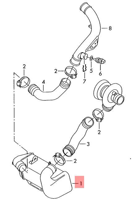 Genuine Vw Diesel Industrie Motore Lt 4x4 Charge Air Cooler
