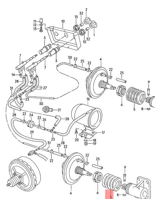 Genuine Volkswagen Bellows NOS 282711279A