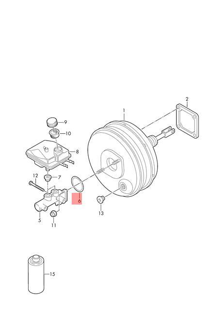 Genuine Gasket between brake servo andbrake tandem master cylinder 1J0611243