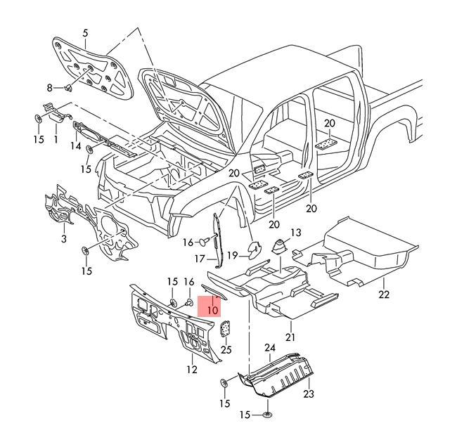 Details About Genuine Basic Plate Vw Amarok 2h1863874a: Vw Amarok Engine Diagram At Downselot.com