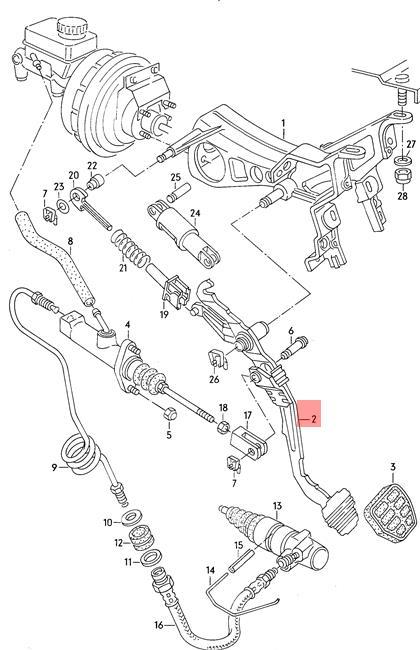 Genuine Volkswagen Clutch Pedal Nos Quantum 32 33 321721315m