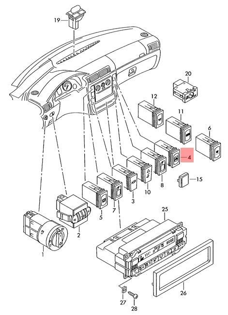 genuine hazard warning light turn signal switch relay vw passat 3b0953235d01c